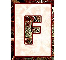 Fractal – Alphabet – F is for Fractal Creations Photographic Print