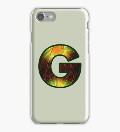 Fractal – Alphabet –  G is for Glow In The Dark iPhone Case/Skin