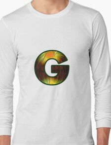 Fractal – Alphabet –  G is for Glow In The Dark Long Sleeve T-Shirt