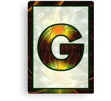Fractal – Alphabet –  G is for Glow In The Dark Canvas Print
