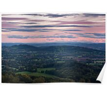 Looking Across Herefordshire Poster