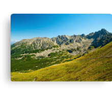 Tatra Mountains national park Canvas Print