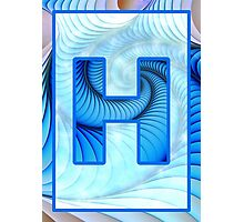 Fractal – Alphabet – H is for Hypnosis Photographic Print