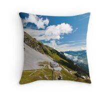 Alpine mountains Throw Pillow