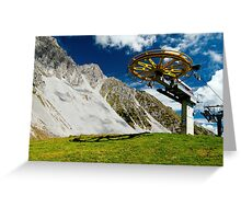 Alpine mountains Greeting Card
