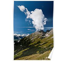 Alpine mountains Poster
