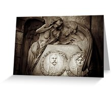 Under her wings Greeting Card