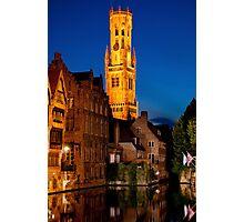 Night Brugge Photographic Print