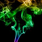 Colourful Smoke Trails by Stephen Knowles