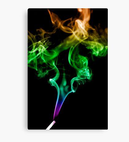 Colourful Smoke Trails Canvas Print