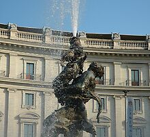 iphone case Fountain, Rome by buttonpresser