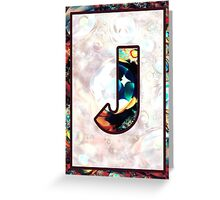 Fractal – Alphabet – J is for Jewelry Greeting Card