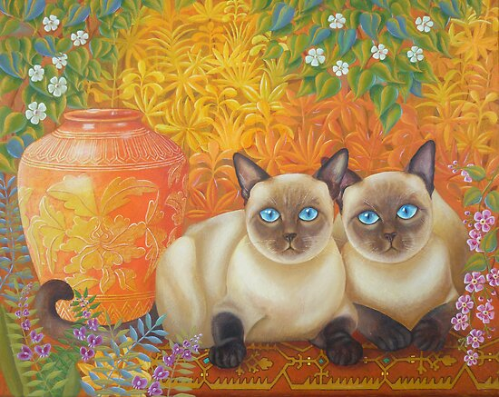 Moon Diamond Siamese by Lana Wynne
