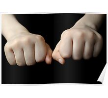 Boy's (10-12) fists, close up Poster