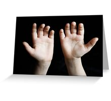 Child hands Greeting Card