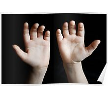 Child hands Poster