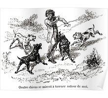 Achille Sirouy Mark Twain Les Aventures de Huck Huckleberry Finn illustration p113 Poster