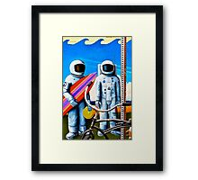 Land, Sea & Sky Framed Print