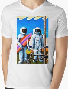 Land, Sea & Sky Mens V-Neck T-Shirt