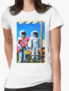 Land, Sea & Sky Womens Fitted T-Shirt