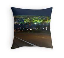 Daytona Beach-International Speedway Throw Pillow