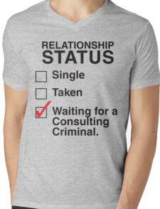 WAITING FOR A CONSULTING CRIMINAL Mens V-Neck T-Shirt