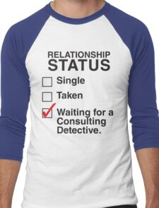 SINGLE TAKEN WAITING FOR A CONSULTING DETECTIVE Men's Baseball ¾ T-Shirt