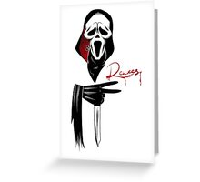 Deuces: Ghostface Edition Greeting Card