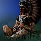 Sitting chief i phone case by Laura Redmond