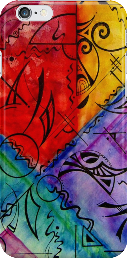iphone case - watercolour abstract 001 by MelDavies