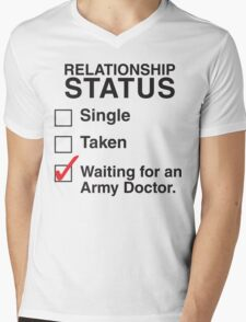 WAITING FOR AN ARMY DOCTOR Mens V-Neck T-Shirt