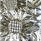 iphone case - silver sunflowers by MelDavies