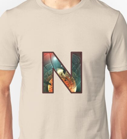 Fractal – Alphabet – N is for Night Vision Unisex T-Shirt