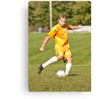 Player Kicks Canvas Print