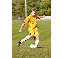 Player Kicks Photographic Print
