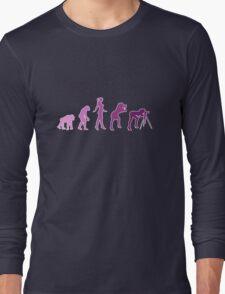 Girl Photographer Evolution Long Sleeve T-Shirt