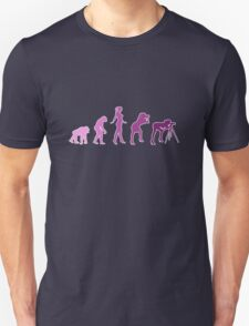 Girl Photographer Evolution Unisex T-Shirt