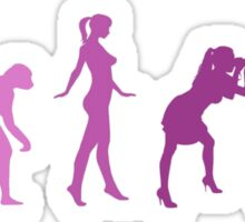Girl Photographer Evolution Sticker