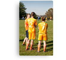 Soccer Team Mates Watch Game Canvas Print