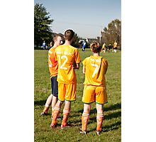 Soccer Team Mates Watch Game Photographic Print