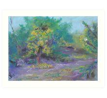 Dusk in the Grove (pastel) Art Print