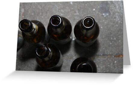 beer bottles by Teka77
