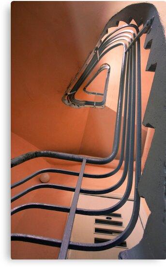 Vintage spiral stairs by wildrain