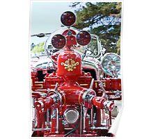 Detail - vintage fire engine Poster