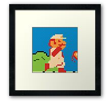 Fire Mario Framed Print