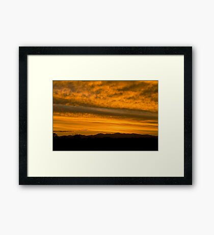 Colorado sunset Framed Print