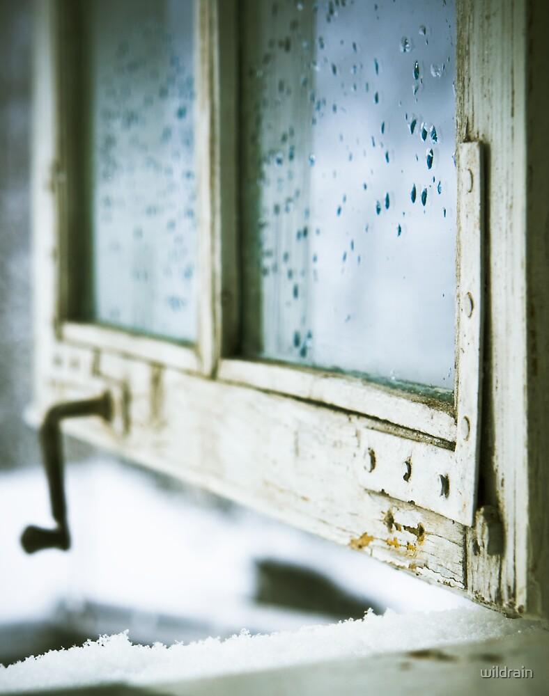 wintage wooden window closeup by wildrain