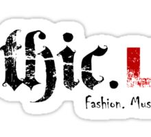 Gothic.Life Logo (White with tag) Sticker