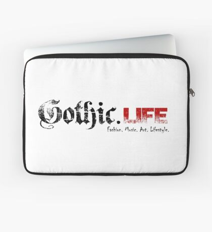 Gothic.Life Logo (White with tag) Laptop Sleeve