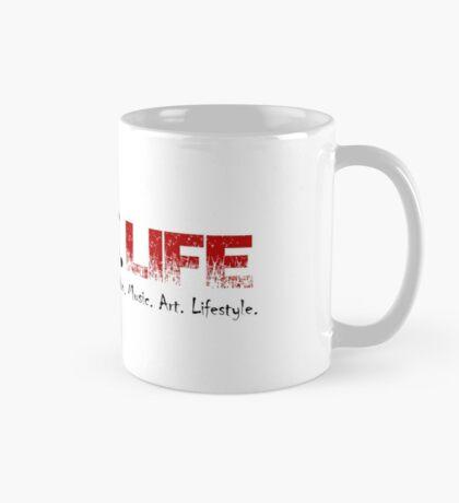 Gothic.Life Logo (White with tag) Mug